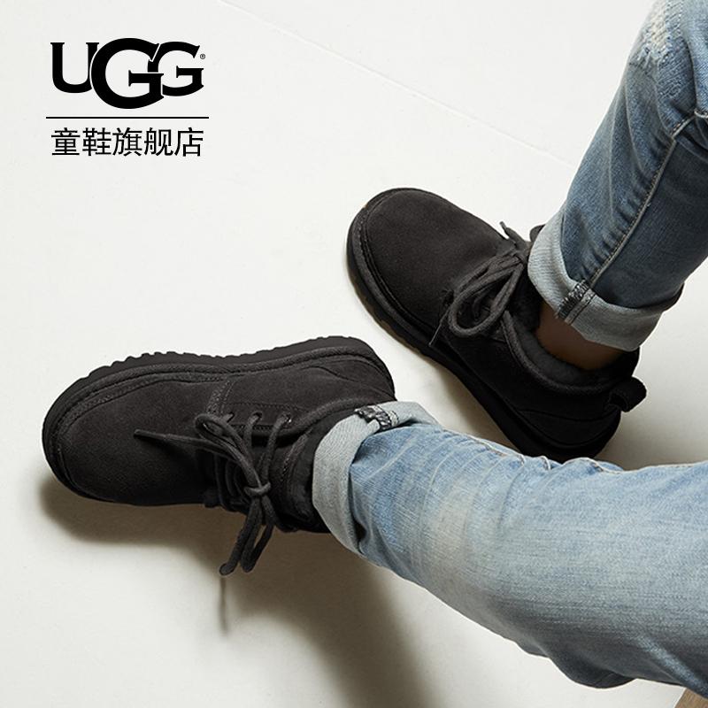 UGG童鞋男女童防泼水休闲英伦迷你靴 1017320K/T