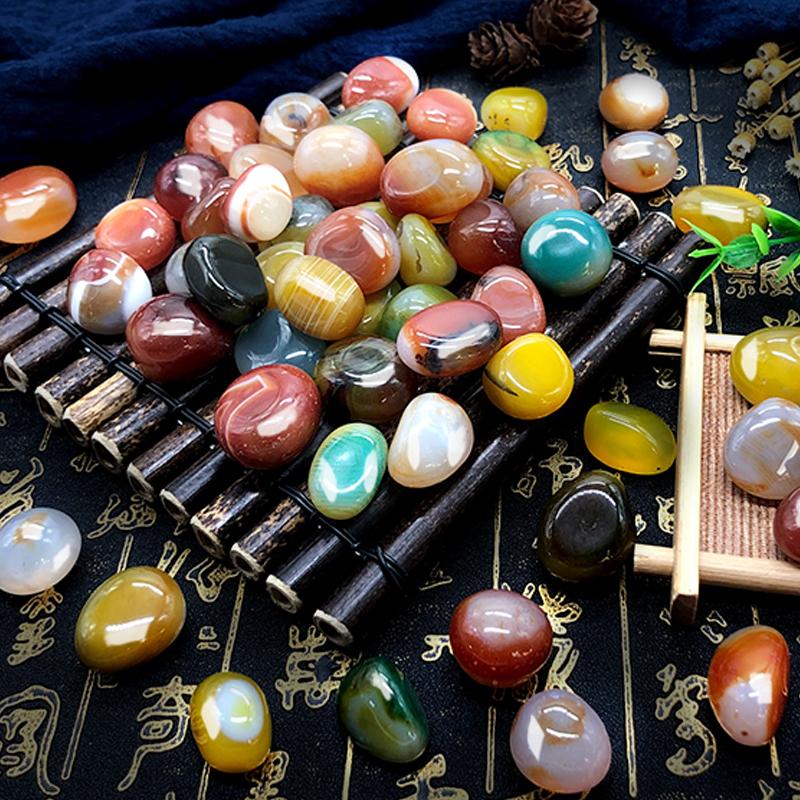 南京雨花石原石多肉铺面鱼缸装饰天然彩色小石子五彩石头鹅卵石