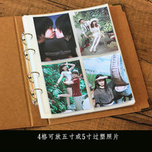 Simple retro 5-inch photo album insert collection airline tickets travel commemorative coins tickets collection