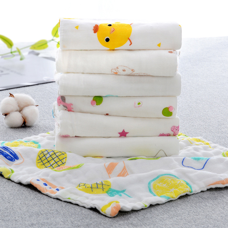 Baby saliva towel childrens towel Cotton face towel baby gauze small square towel newborn handkerchief bath handkerchief