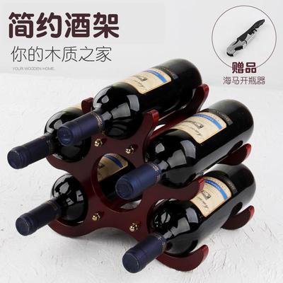 木质红酒架摆件欧式葡萄酒架创意收纳酒瓶架家用红酒柜展示架酒具