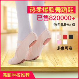 儿童舞蹈鞋女软底芭蕾舞练功鞋跳舞鞋民族舞中国古典舞鞋形体成人