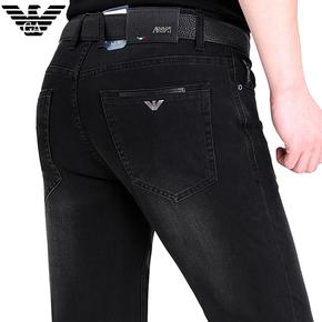 专柜正品意大利进口男牛仔裤夏季薄款中老年品牌商务直筒休闲长裤