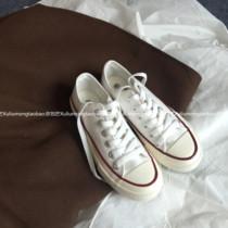 韩国街拍万年经典款百搭复古1970s复刻白色低帮帆布鞋女许刘芒