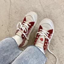 女学生街拍小白鞋chic帆布鞋韩版百搭ulzzang春季新款2018许刘芒