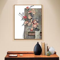 現代簡約北歐客廳玄關裝飾畫餐廳走廊掛畫手繪原創油畫花卉畫