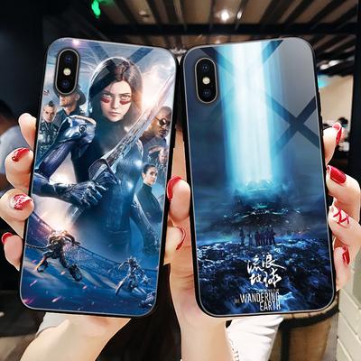 阿丽塔手机壳苹果x玻璃iPhone XS Max电影6s流浪地球6周边xr官方iPhone8plus卡通7p男iPhoneX个性定制xs小米9