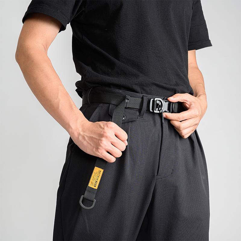腰带男磁力扣机能女插扣潮牌战术工装ins风暗黑工业加长尼龙皮带