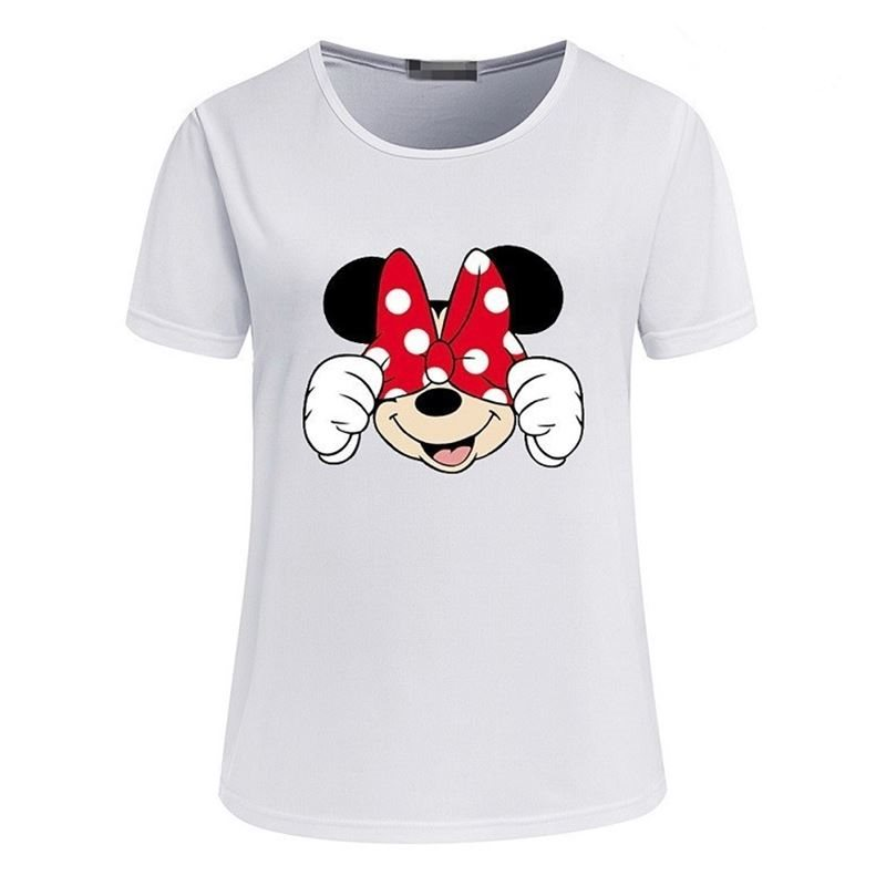 Mickey Mouse Print Summer Short Sleeve T-shirt  Tee Cartoon