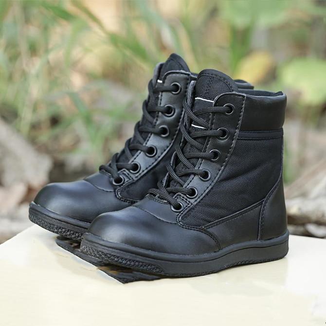 男童作训单靴特种兵作战靴中大童军靴女童军鞋 儿童军靴亲子鞋 夏季