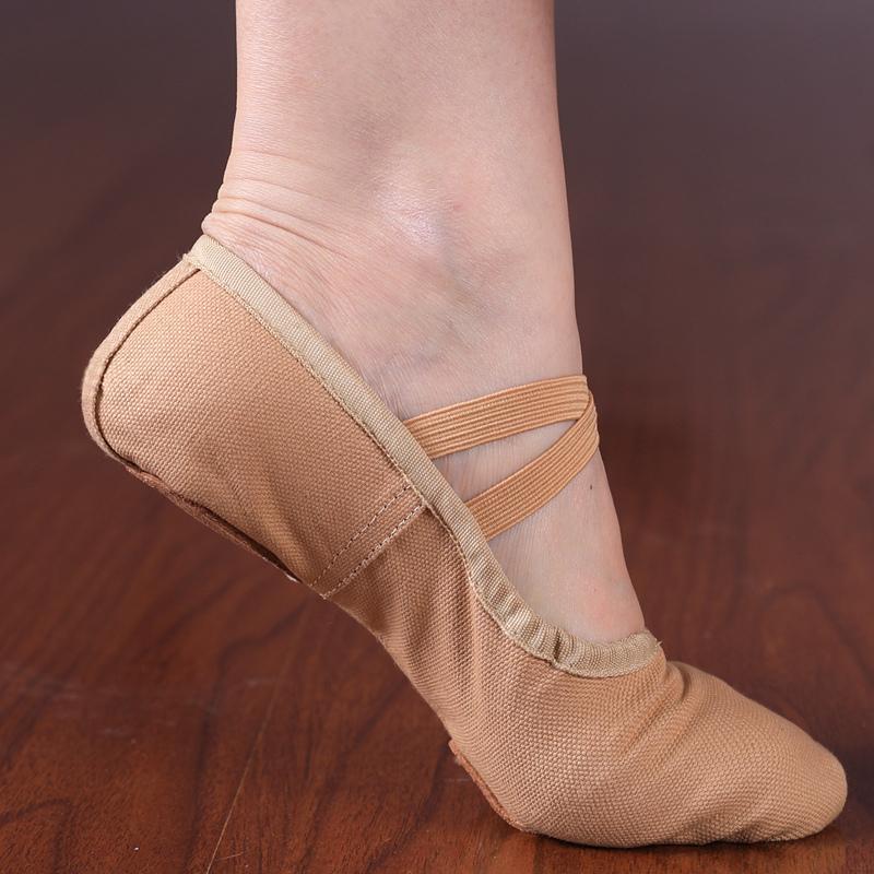 Для взрослых младенец ребенок танец обувной йога обувной девочки мягкое дно практика гонг обувной кошачий обувной форма тело танцы обувной балет обувной