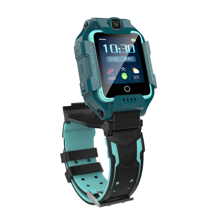 ペンネウサギ子供回転スマート腕時計タッチパネルダブル撮影ビデオ通話多機能防水位置決め4 G全網通
