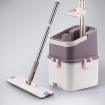 David free Hand wash flat mop spin lazy wooden flooring household mop Bhutto put mop bucket genuine