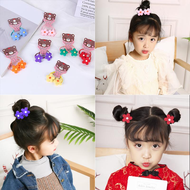 儿童发圈小花皮筋韩国绑头发的头绳