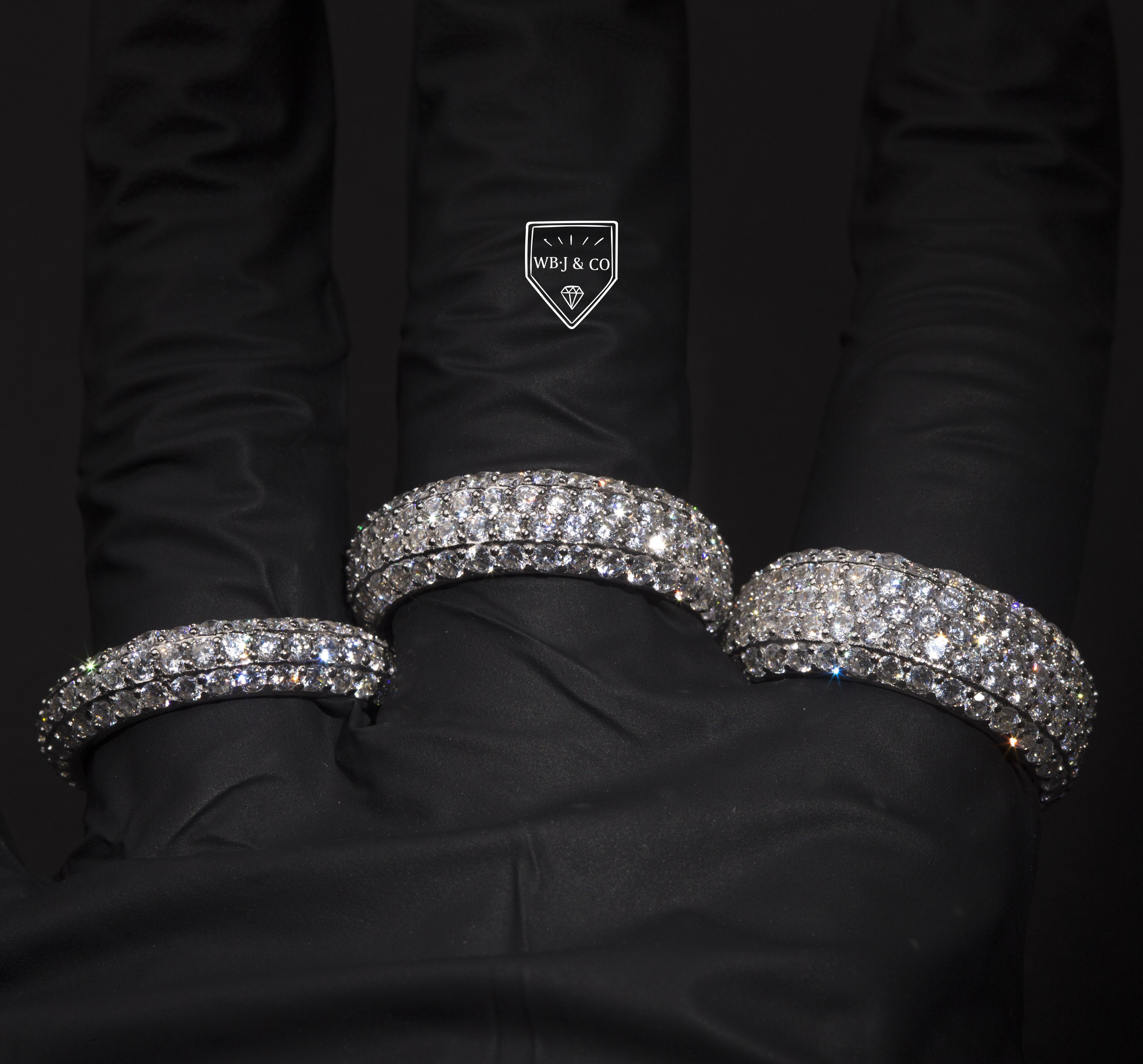 满圈镶嵌戒指戒指hiphopWBJ定制珠宝密钉镶嵌戒指