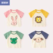 宝宝短袖T恤纯棉夏装婴儿半袖上衣薄款夏1嘟嘟家儿童衣服男童装女