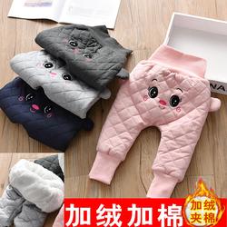 儿童羽绒棉裤婴儿高腰护肚女童外穿冬装大PP裤加绒加厚男宝宝裤子
