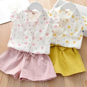 女童夏装套装2021新款儿童夏季中小童装女孩宝宝纯棉洋气两件套潮