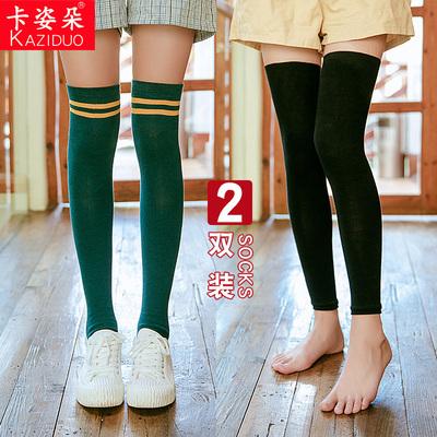 長筒襪女過膝襪套秋冬保暖高筒靴護腿套韓國日系學院風堆堆長襪子