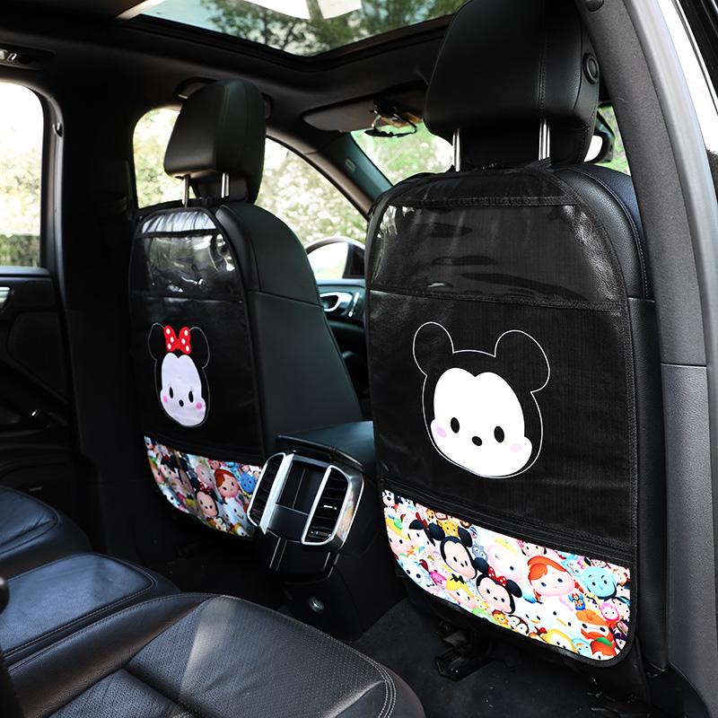 汽车座椅防踢垫儿童卡通椅背保护垫车内用防脏防护垫后排防踢磨垫