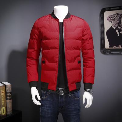 6857 男士立领外套 秋冬新款修身韩版棉服 P215