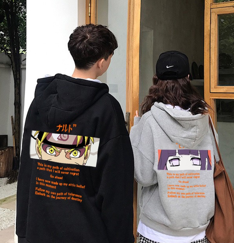 Naruto sweater mens Hoodie trend spring and autumn hip hop loose couple coat ins super fire Hoodie