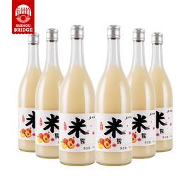 苏州桥水蜜桃味大米露甜米酒汁0.5度糯米毕业聚餐女酒750MLx6瓶装图片