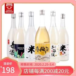 苏州桥米酒桂花米露桃花冬酿清酒少女微醺甜酒6瓶750mL