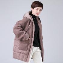现货新款宽松洋气妈妈装时尚百搭2020年胖妹妹羽绒棉服潮