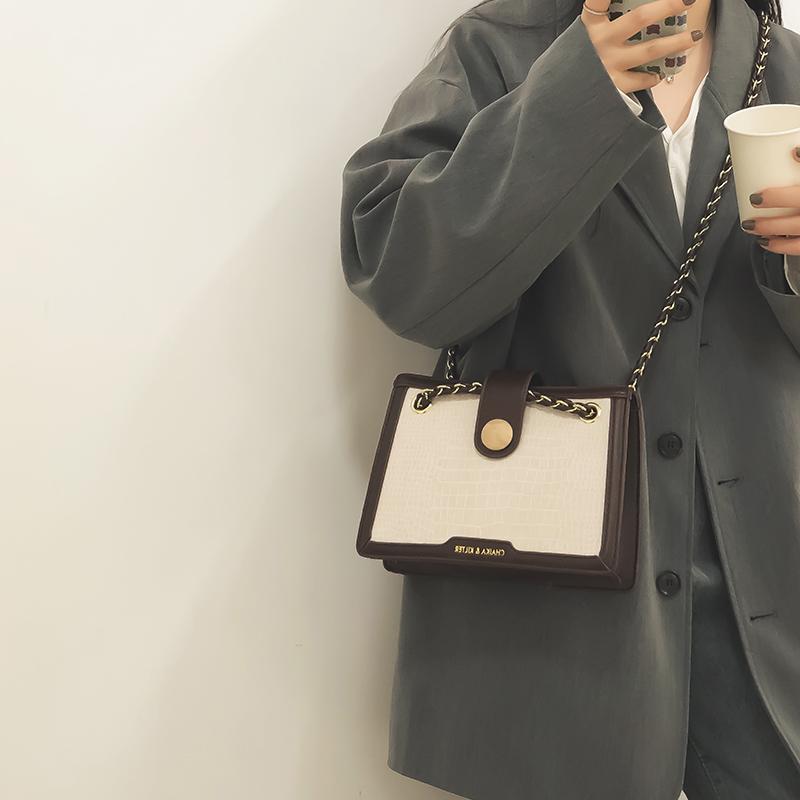 高级感鳄鱼纹小包包女包2020新款潮时尚链条包网红百搭斜挎小方包