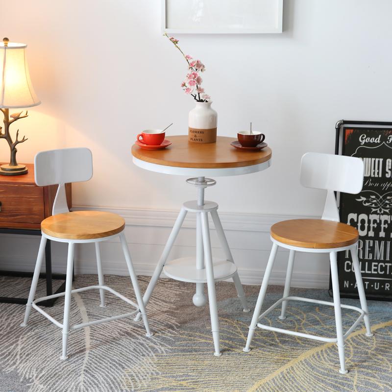 阳台户外铁艺桌椅组合咖啡厅奶茶店酒吧休闲小圆桌椅三件套小茶几