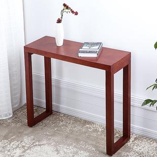 实木玄关台现代简约实木门厅玄关柜沙发靠背桌条案条几供桌玄关桌
