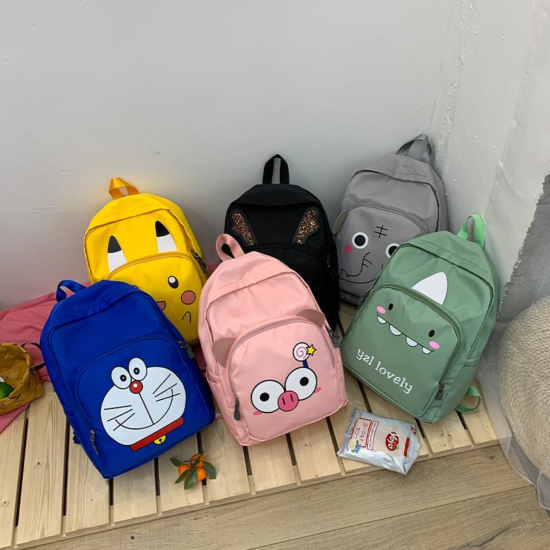 哆啦A梦尼龙双肩包卡通少女韩版背包小学生1-3-6年级校园时尚书包