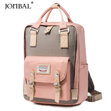 Doughnut shoulder bag lady Korean version backpack junior high school students schoolbag canvas ins former college students
