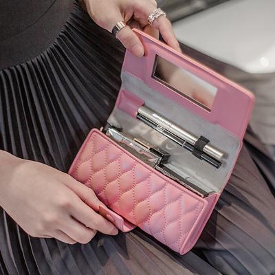 化妆包女2019新款小号便携韩国简约大容量多功能随身补妆包收纳包