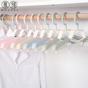 慕领衣架塑料无痕可伸缩加宽加长旋转衣挂大号40-52CM成人男女