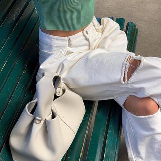 gusty新品chic街拍时尚高腰显瘦哈伦裤2021年夏季破洞宽松休闲裤
