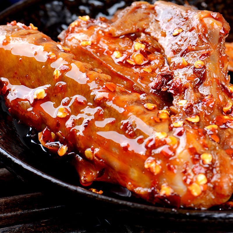 四川特产麻辣鸭翅膀卤味熟食手工食品馋货捕头鸭肉休闲零食120克