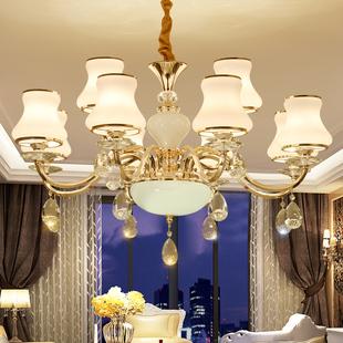 吊灯客厅2020水晶餐厅大气奢华家用卧室灯饰网红欧式灯具现代简约价格