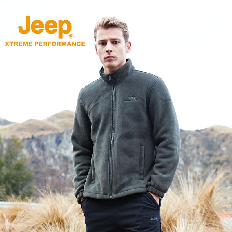 jeep加绒加厚户外男士绒衣冲锋衣