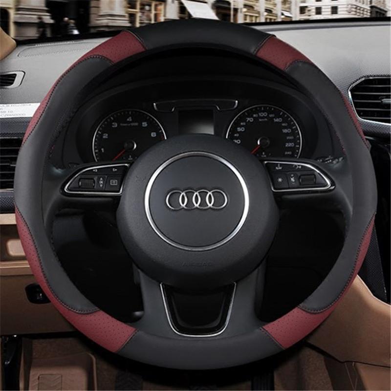 女士可爱汽车把套专用于奥迪A3 A4L A5 A6L Q3 Q5 四季方向盘套子