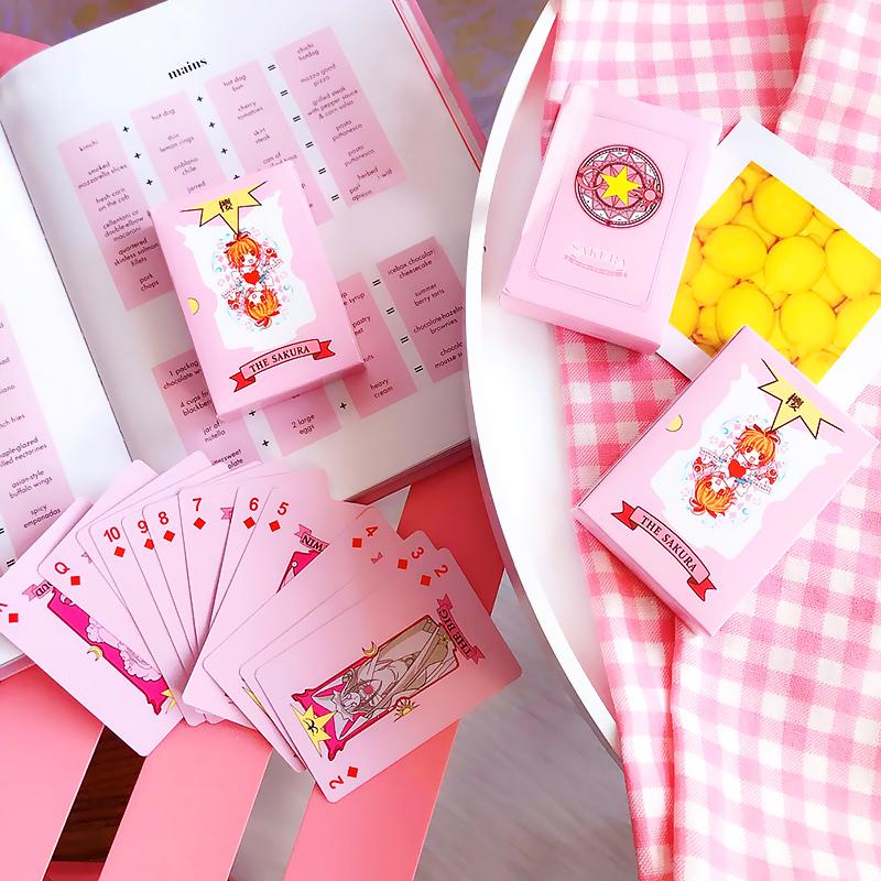 可爱卡通百变小樱库洛魔法扑克牌动漫周边儿童益智娱乐纸牌游戏牌