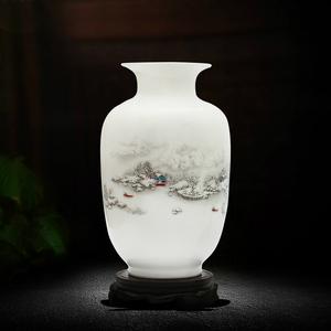 景德镇小花瓶家居装饰品干花陶瓷器