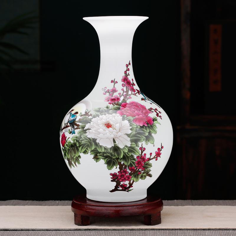博古架摆件景德镇陶瓷器小花瓶现代新中式家居客厅酒柜装饰品工艺 Изображение 1