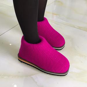 。√新款春季手工棉鞋 毛线编织鞋居家防滑鞋底 手工毛线鞋男女款