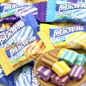阿尔卑斯酸奶香软糖焦香源味500g/100颗发喜糖蓝莓香蕉批糖果零食
