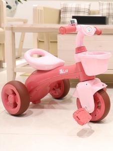 宝丽1708儿童三轮车脚踏车宝宝1-3-6岁溜娃神器幼儿童小孩手推车