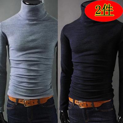 男式毛衣套头个性圆领衣服2021春秋新品薄款舒适合身针织衫男
