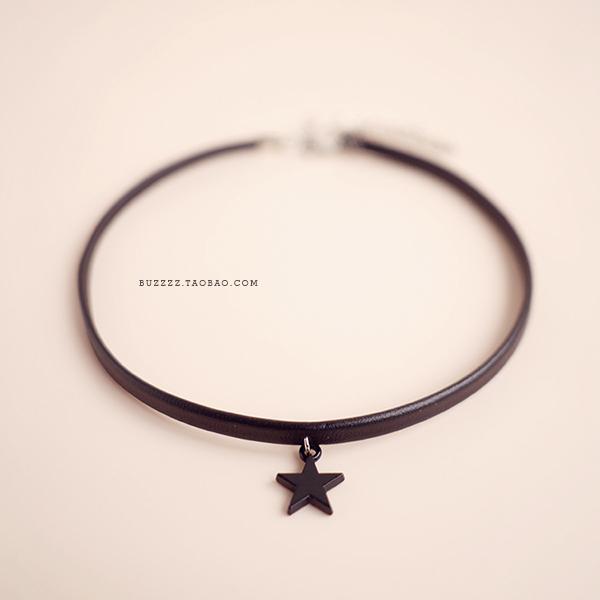 韩国星星choker软妹项圈颈带女 简约颈链锁骨链脖链短款项链少女