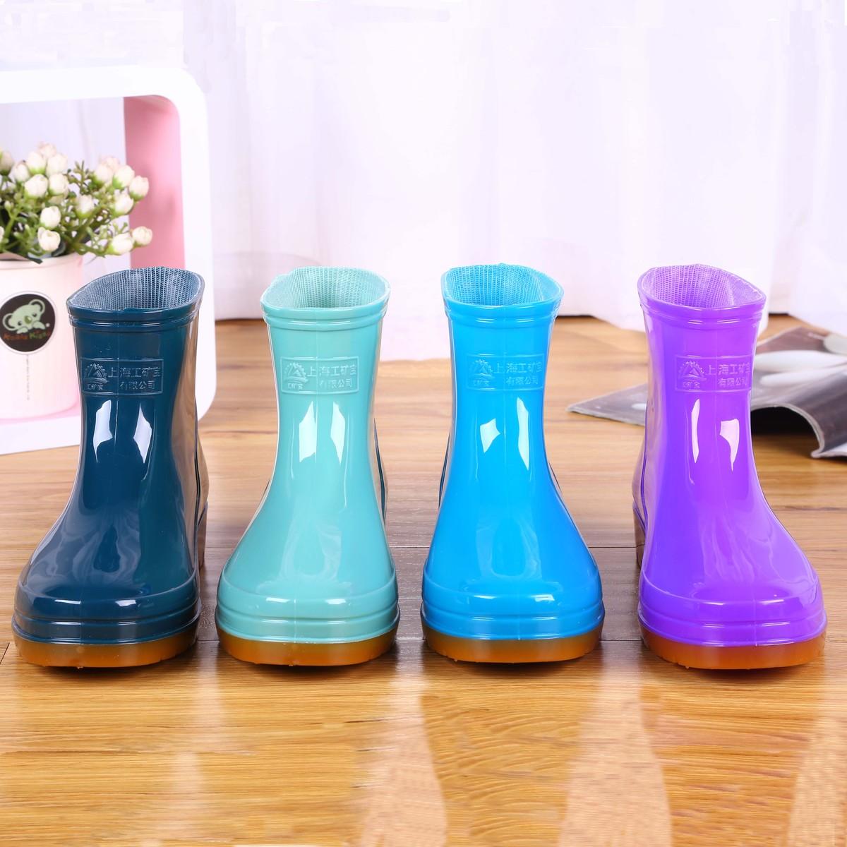 雨鞋雨靴胶靴防水鞋女厨房洗车短筒平底胶鞋套鞋成人韩国防滑夏季